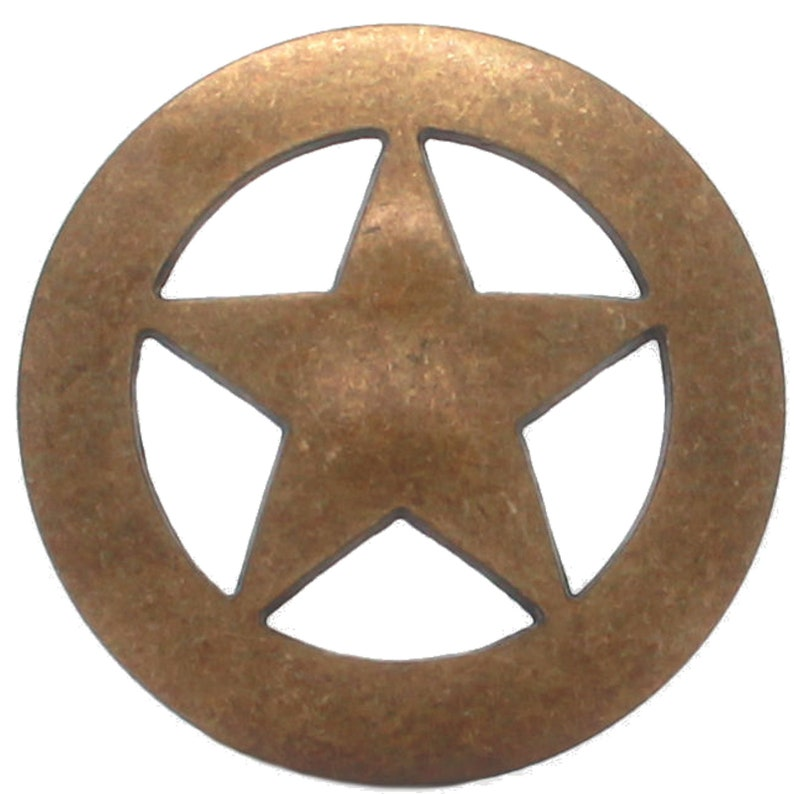 Smooth Star Concho Antique Brass 1-34 7533-21