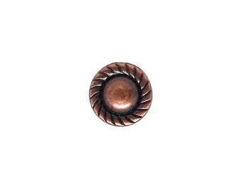 "Nail Head Spots Antique Copper Plate Rope Edge 1/4"" Dia 100 pk NH20893AC"