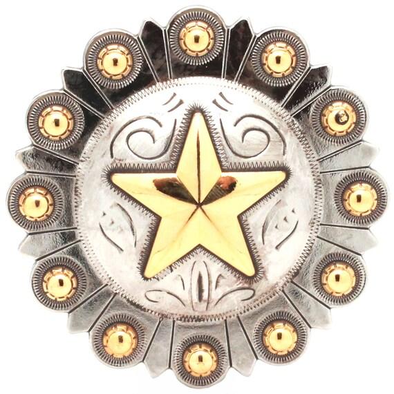 "Spurs Bezel Concho in Antique Silver 3//4/"" 7785-12"