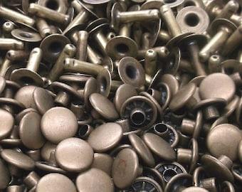 100 Pack of Antique Brass Medium Rapid Rivets 1273-15 by Stecksstore