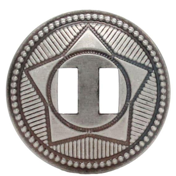 "Star Conchos 1-1//2/"" Nickel 10 pack"