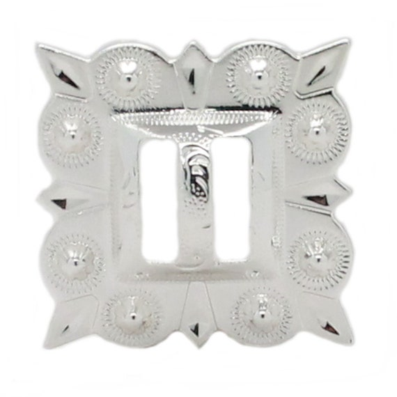 """Berry Slotted Concho Silver 1/"""" 7862-02S"""