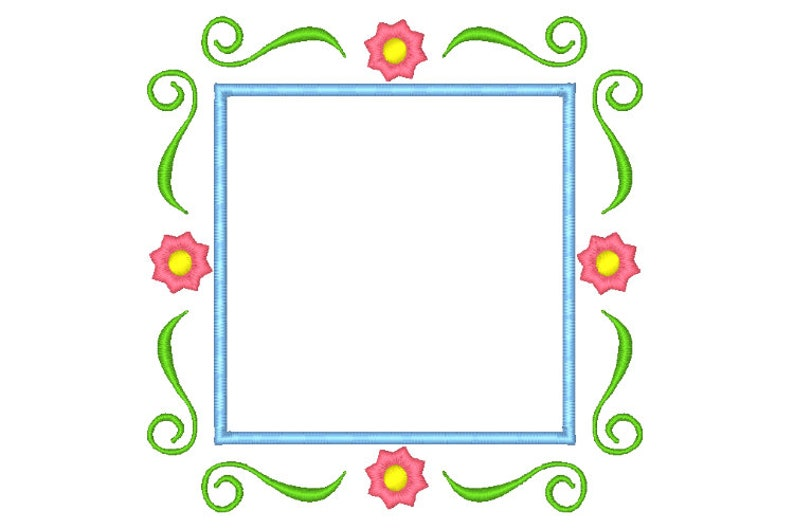 Frame Machine Embroidery Design Embroidery Frame Border Design Scroll Frame  Applique 5 Sizes Instant Download