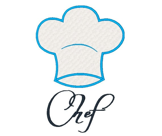 Chefs Hat Embroidery Design 120714 Kitchen Embroidery Filled Etsy