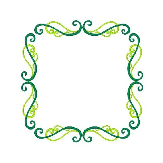Desplazamiento del bordado diseño borde bordado diseños marco | Etsy
