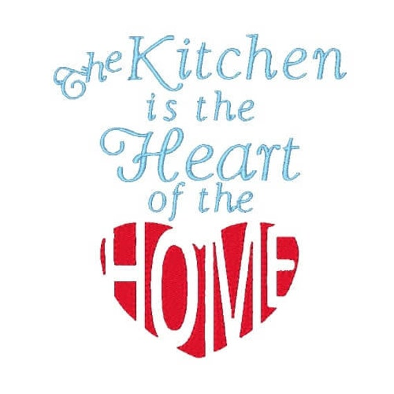 Heart Of The Home Machine Embroidery Design Embroidery Designs Etsy