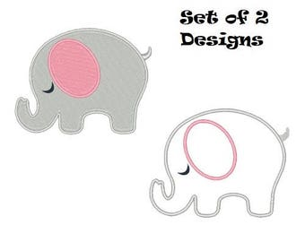 Sleeping Elephant Machine Embroidery Designs Filled Stitch and Applique Instant Download Digital Embroidery Designs 4X4 5X7 6X10 8X8 pes vp3