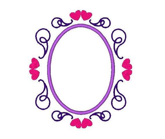 Oval frame design Line Art Image Etsy Oval Frame Applique Embroidery Design Applique Oval Shapes Etsy