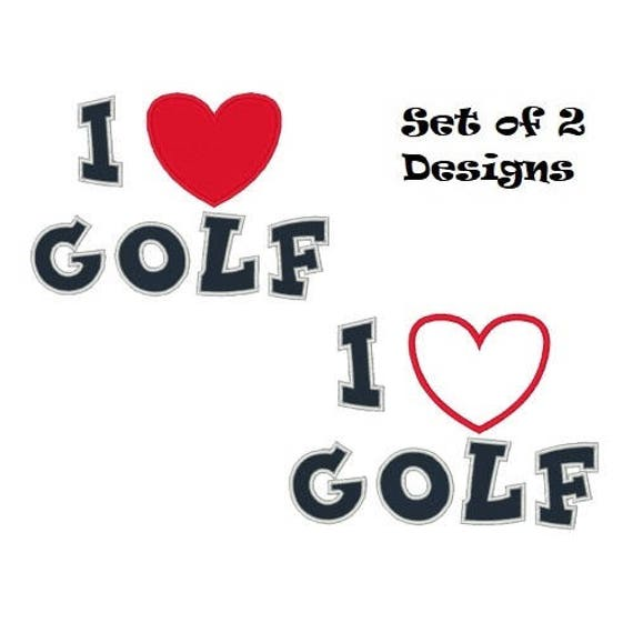 Love Golf Embroidery Design Golfing Embroidery Designs Golf Etsy