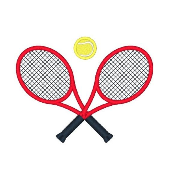 Tennis raquettes broderie design tennis broderie dessins - Raquette dessin ...