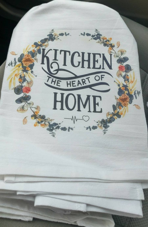Groovy Kitchen Heart Of Home Flour Sack Towels Kitchen Linens Hand Towel Feed Sack Style Dish Towels Rustic Farmhouse Tea Towels Wedding Gifts Home Interior And Landscaping Eliaenasavecom