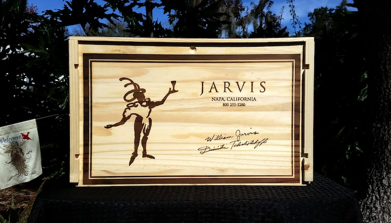 Wine Crate Jarvis Estate Cabernet Sauvignon Wedding Decor image 0