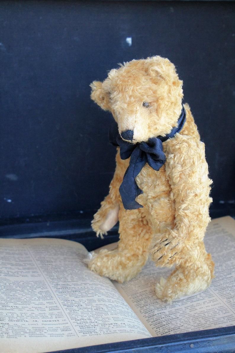Artist Teddy Bear Ollie animals-stuffed bear-interior toy-personalized teddy bear ooak-authors teddy bear