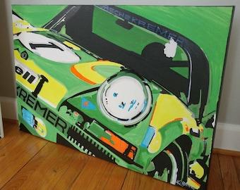 Vintage porsche 911 painting
