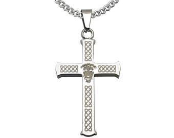 Celtic Cross Pendant Necklace, Men's Stainless Steel Necklace,Personalized Celtic Cross Necklace SSN547