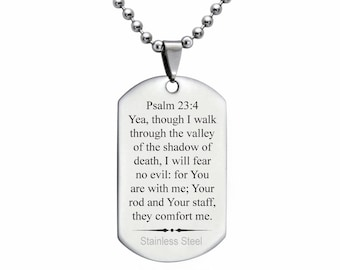 Stainless Steel Dog Tag Necklace, Personalized Engraved Stainless Steel Dog Tag Necklace, Father's Day Gift, Gift For Dad