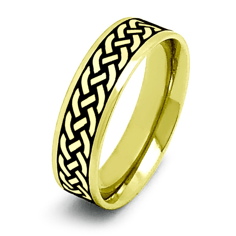 6mm Claddagh Rings,Celtic Claddagh Wedding Rings,Celtic Band for Men and Women Tungsten Celtic Claddagh Rings Couples Ring Set