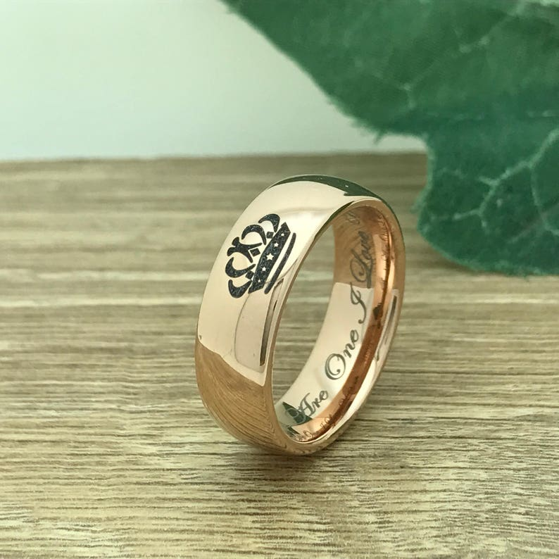Couples Ring Set TCR411 Personalized His /& Hers Tungsten Ring King and Queen Rings Kriskate /& Co