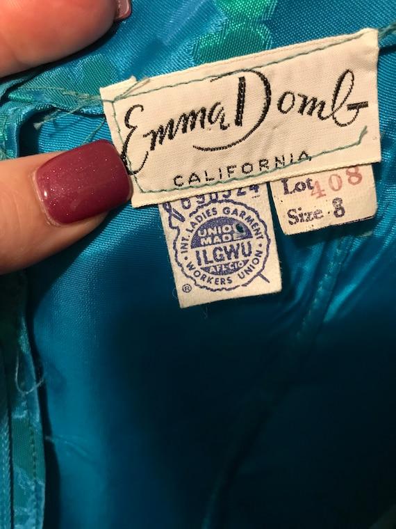 Emma Domb Vintage Blue Taffeta Gown