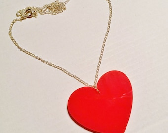 Red Queen Of Hearts Valentine Necklace