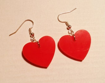 Red Queen Of Hearts Valentine Earrings