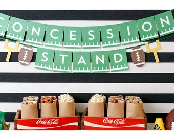 Concession Stand Banner - Football Party Decorations - Football Sunday - Superbowl Football Birthday Party - Super Bowl Party
