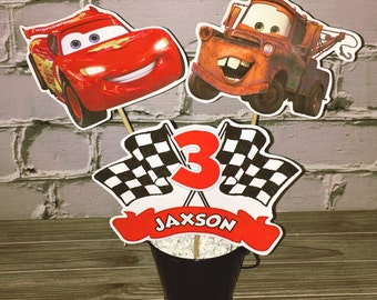 Cars Centerpiece - Cars Birthday Party Decorations - Disney Cars Birthday Party Centerpiece