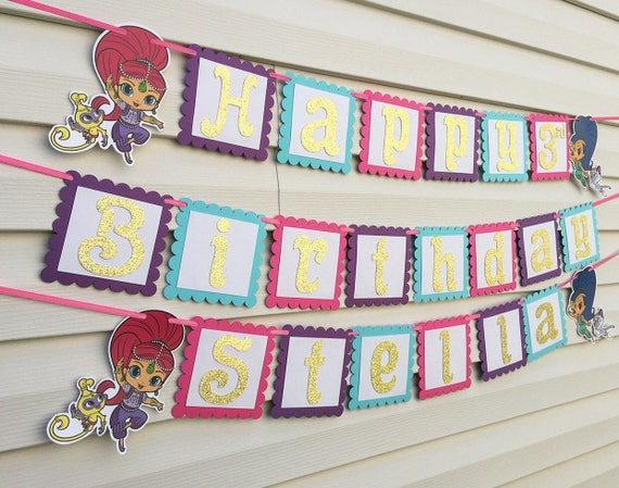 Shimmer And Shine Banner Shimmer And Shine Party Decorations Etsy