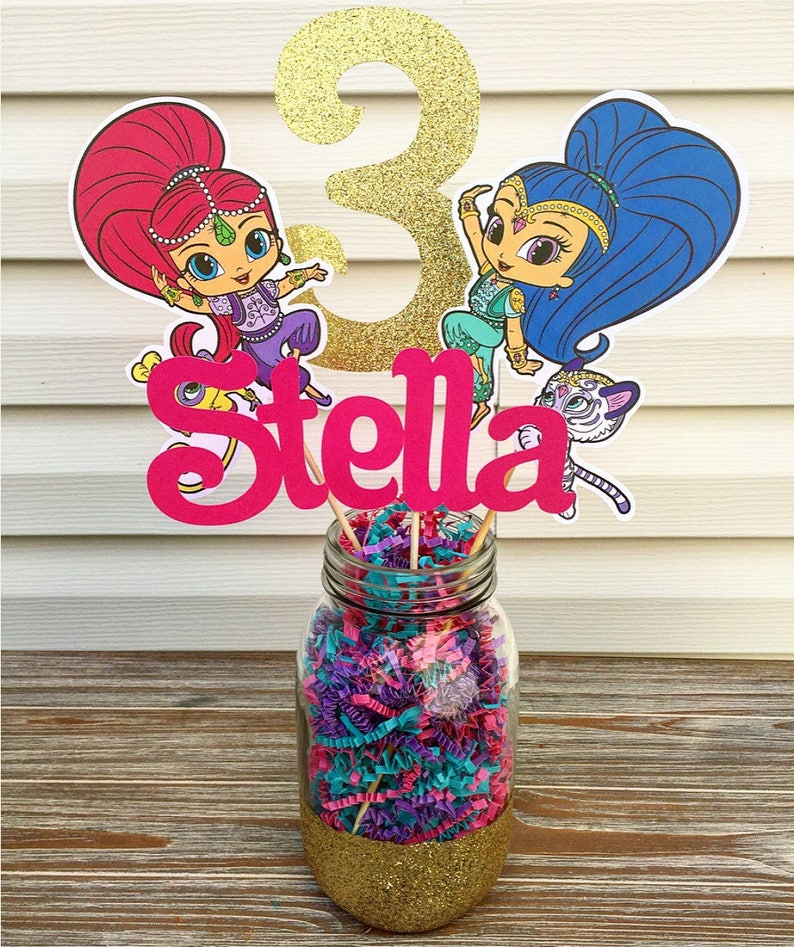 Shimmer And Shine Centerpiece Party