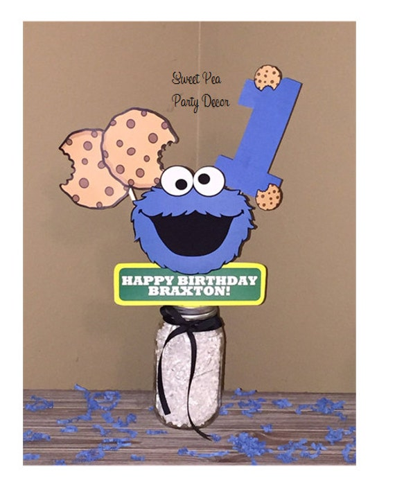 Cookie Monster Birthday Party Centerpiece Cookie Monster Birthday Decorations Sesame Street Party