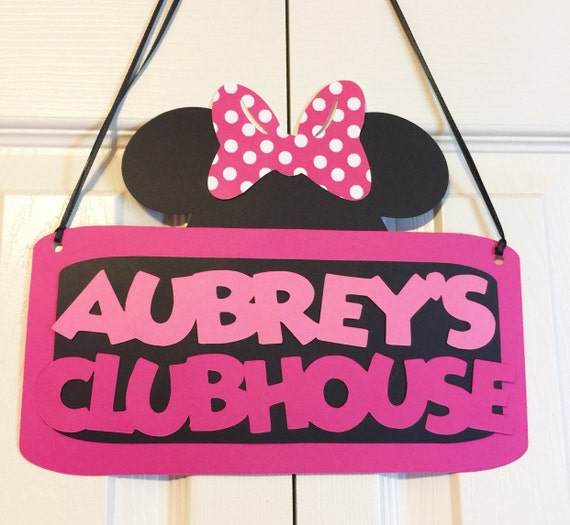 Minnie Mouse Clubhouse Door Sign Birthday Party