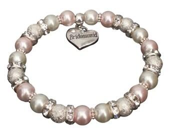 BRIDESMAID Gift Charm Bracelet Flower Girl WEDDING Jewellery