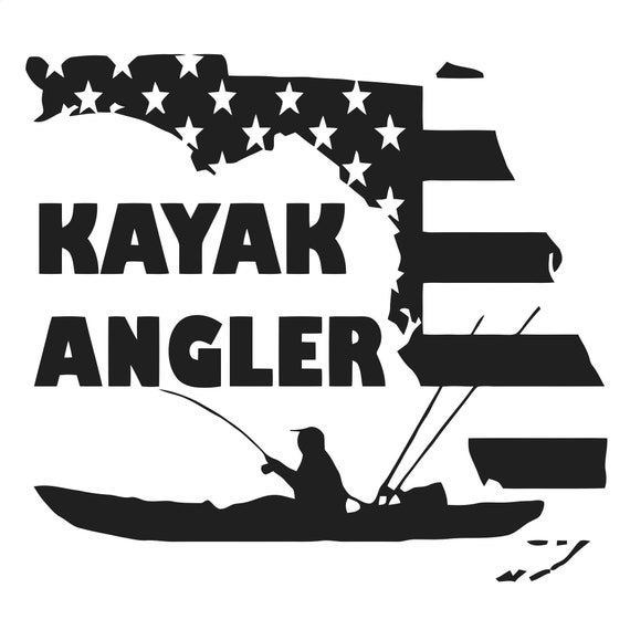 Paddle fishing decal