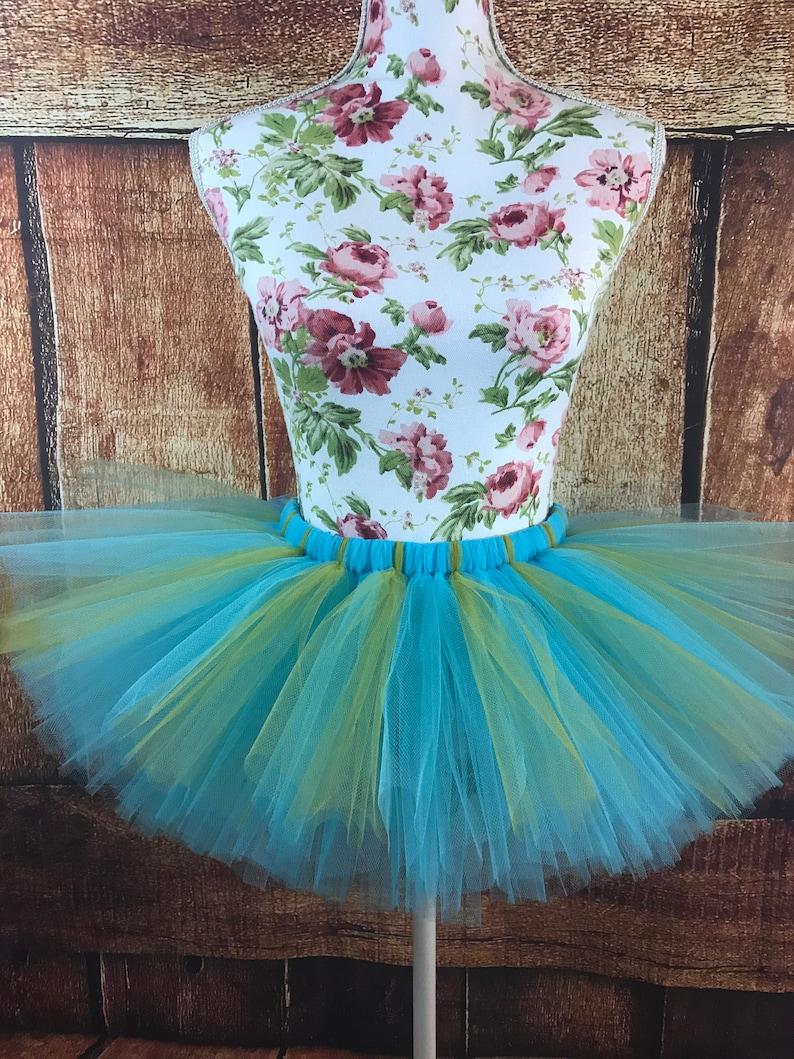 tutu costume women/'s costume tutu skirt princess tutu Turquoise and gold tutu running tutu tutus for women blue tutu