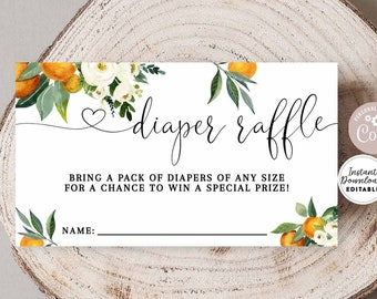 Floral Baby Shower Games /& Activities Diaper Raffle DIGITAL FILE Instant Download Invitation Inserts BA1001