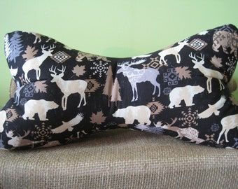 Crib Bedding Boy Scout Camping Hunting Minky Toddler Bed Blanket Comforter with Faux Chocolate Rabbit Faux Fur Minky Backing Boy Bedding