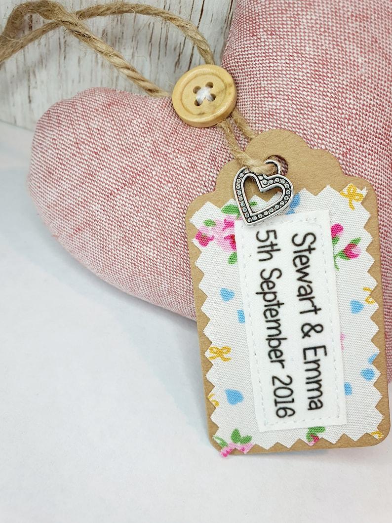4th linen wedding anniversary heart keepsake homemade gift