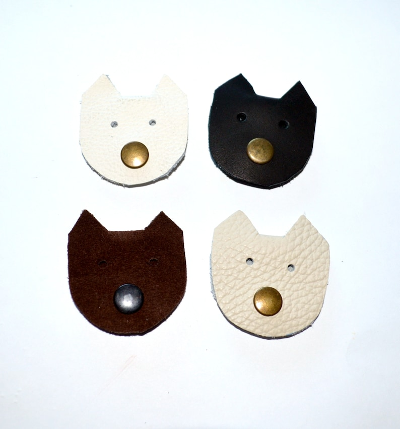 earbud holder cord keeper cat lover gift earbud organizer leather cord organizer cable organiser Cord earbud holder leather cable wrap