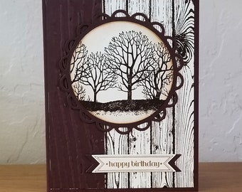 Masculine Forest Birthday Card Kit of 5
