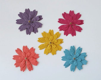 Zinnia Flower Die Cuts