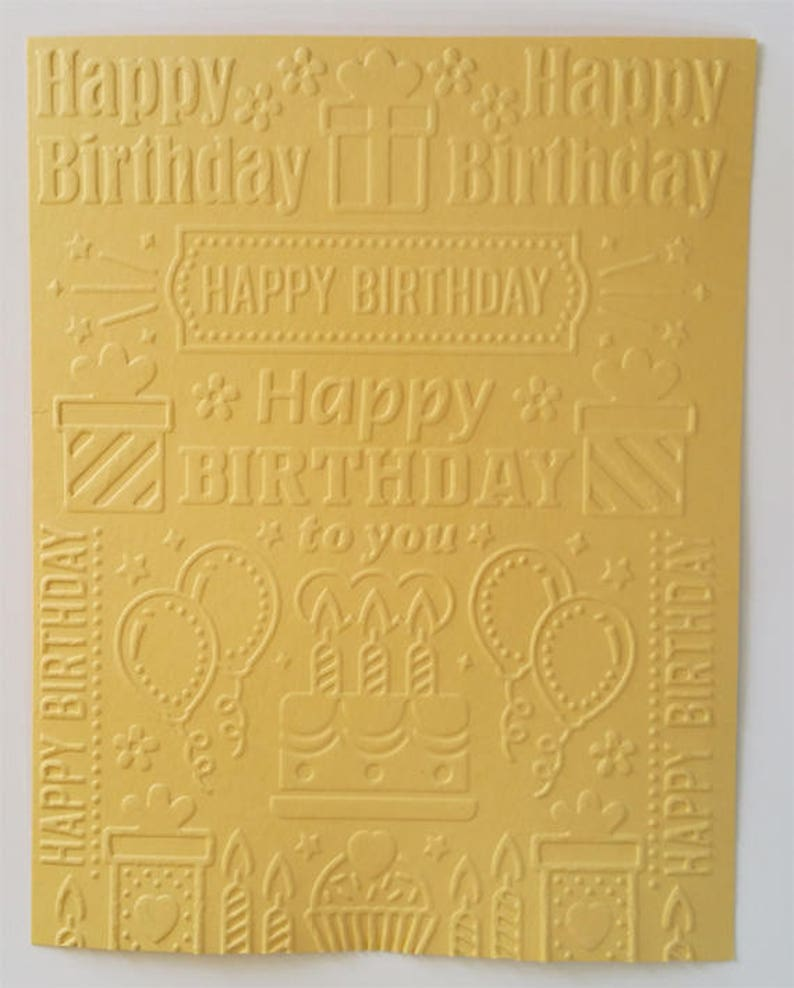 Birthday Collage Embossed Card Stock Sheets or CardsEnvelopes