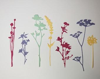 Wild Flowers Die Cut-New Color Set