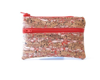 Cork zip purse