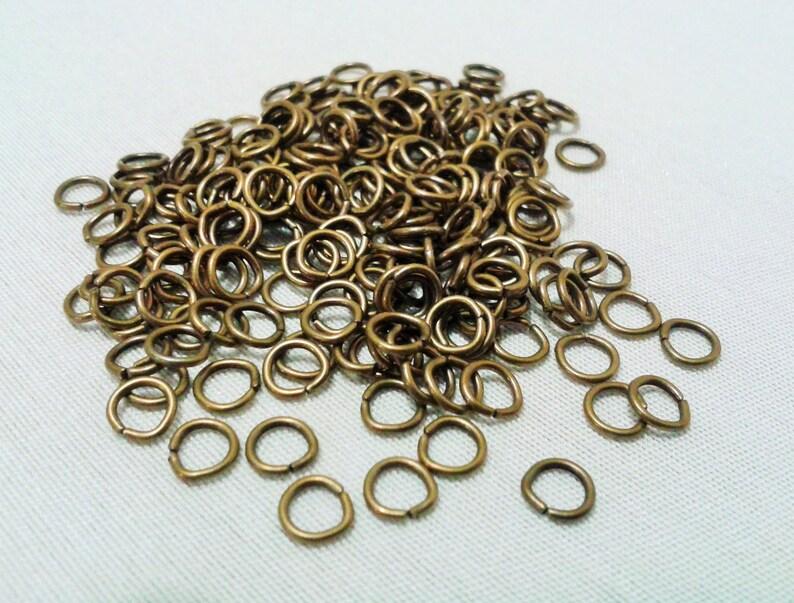 Jumprings Antique Bronze OD-5mm 100pcs.