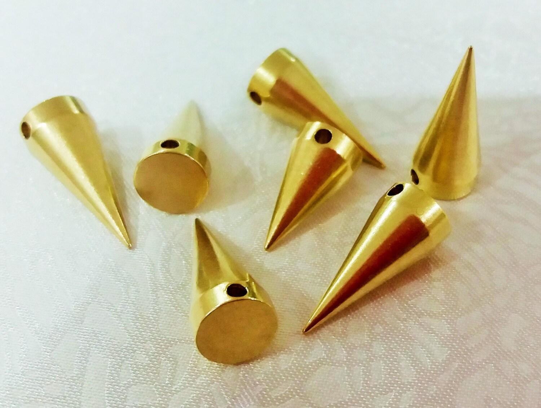 100 pièces en laiton brut 8 x industriel 19 mm industriel x Spike résultats, breloques, pendentifs, pointe en laiton - 2,2 mm trou 3b146b