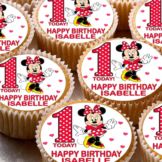24 PERSONALISED MR TUMBLE EDIBLE RICE PAPER CUP CAKE TOPPERS
