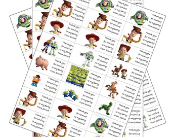 24 x Toy Story Labels Personalised with Any Name for Birthday Parties/ Party Loot Bags etc ToyStory 3