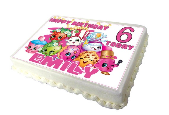 shopkins a4 birthday cake topper with any name and age etsy