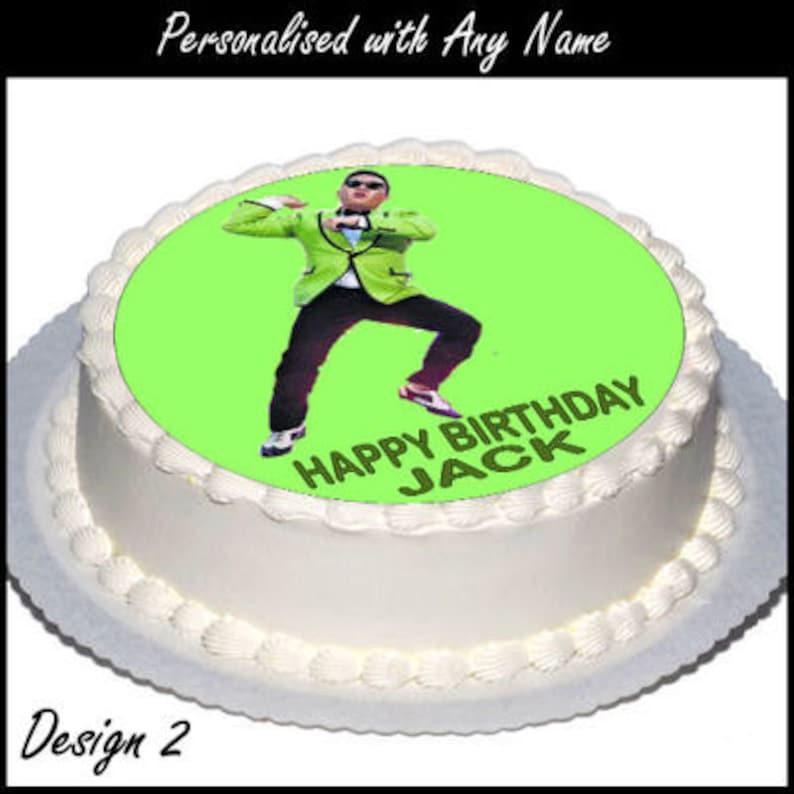 Gangnam Psy Stil 75 Zoll Cake Topper Mit Jedem Namen