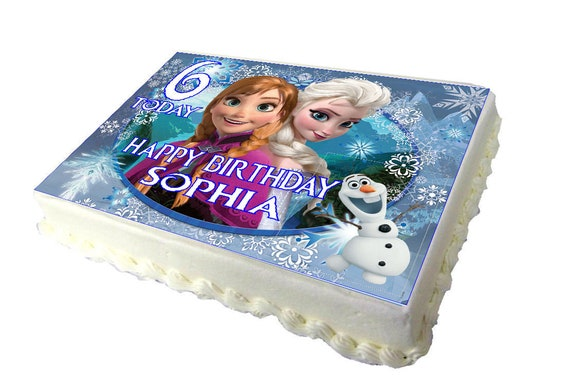 Phenomenal Frozen A4 Birthday Cake Topper With Any Name And Age Etsy Funny Birthday Cards Online Fluifree Goldxyz